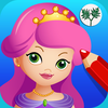 Princess ballerina color salon- Fun Coloring and Painting Book App with Ballet Dancers Princesses Little Ponies and Fairy Tale Fairies for Kids and Girls to Paint and Draw