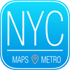 New York City Map and Metro Offline - Street Maps and Public Transportation around the city App Icon